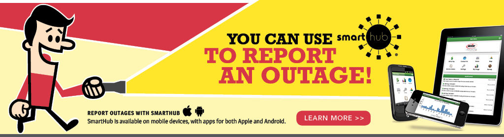 You can use your SmartHub app to report an outage.