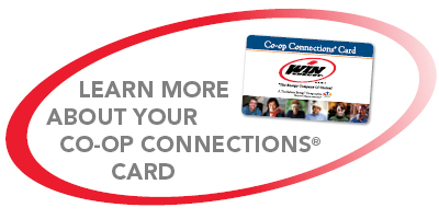 Click here to learn more about your Co-op Connections Card.